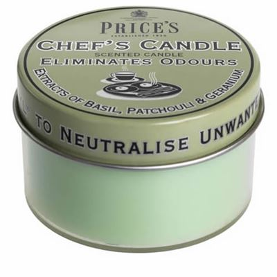 Chef's Eliminates Odours Candle by Price's 25hr Drum